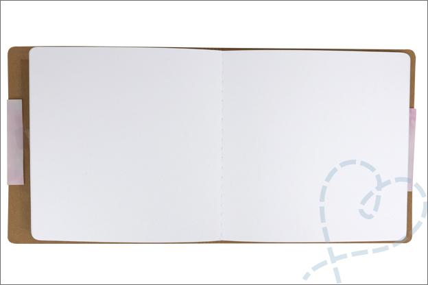 Action art journal binnenkant aquarelpapier