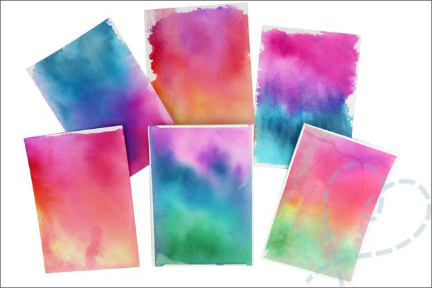Action liquid watercolor Brushmarkers ecoline achtergrondjes maken