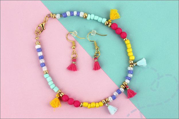 Action sieraden maken armband oorbellen voorbeelden