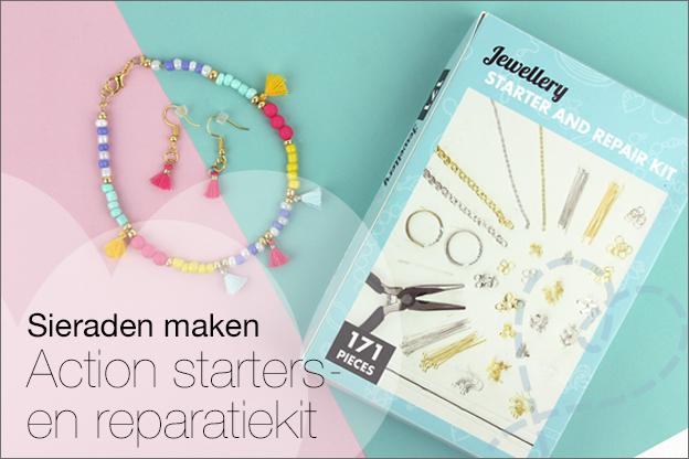 Action starters en reparatiekit voor sieraden maken