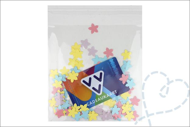 DIY confetti kaart maken cadeaukaart