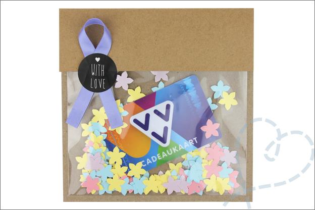 DIY kaart maken voor cadeaubon tegoedbon
