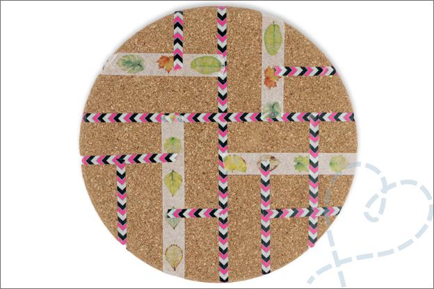 DIY memobord knutselen verf washi tape