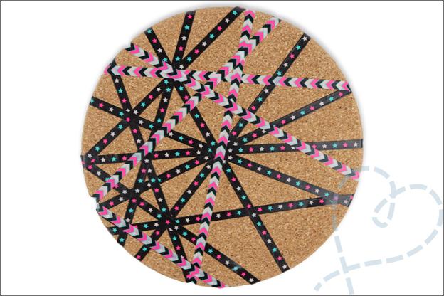 DIY prikbord maken kurk washi tape
