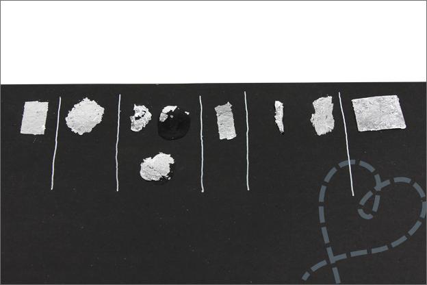 Folievlokken lijm test action foil flakes