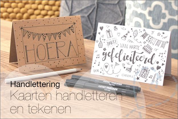 Handletteren kaarten persoonlijk inspiratie uitleg