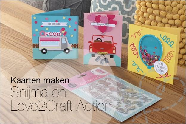 Kaarten maken snijmallen action inspiratie 2021 love2Craft