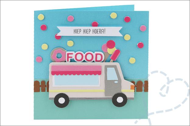 Kaarten snijmallen action foodtruck truck