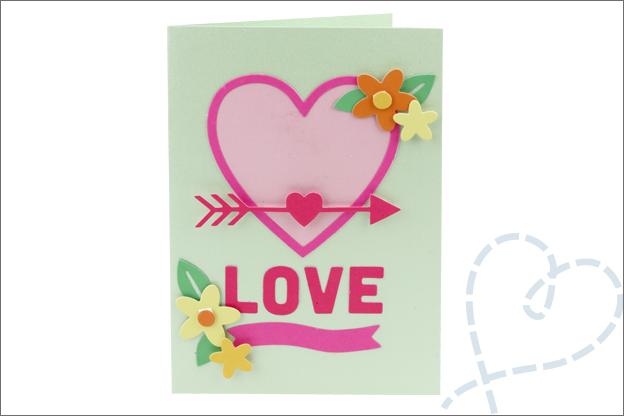 Kaarten snijmallen hartjes liefde action