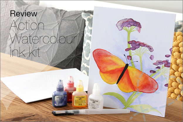 Review Action Watercolour ink kit Aquarelverf