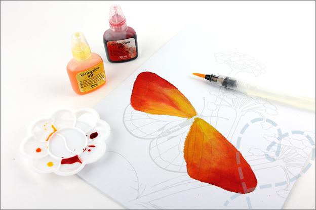 Review Action aquarel inkt set