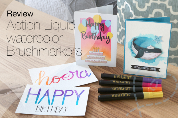 Review Action liquid watercolor Brushmarkers