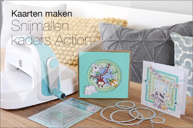 Snijmallen kaarten Action voorbeelden inspiratie kaders