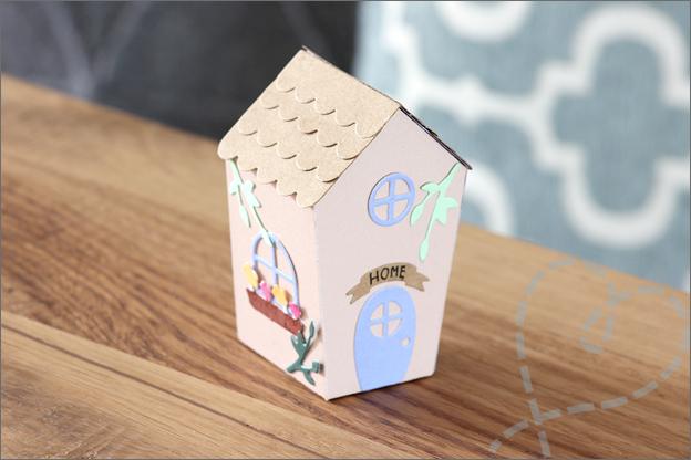 Snijmallen love2craft huisje maken