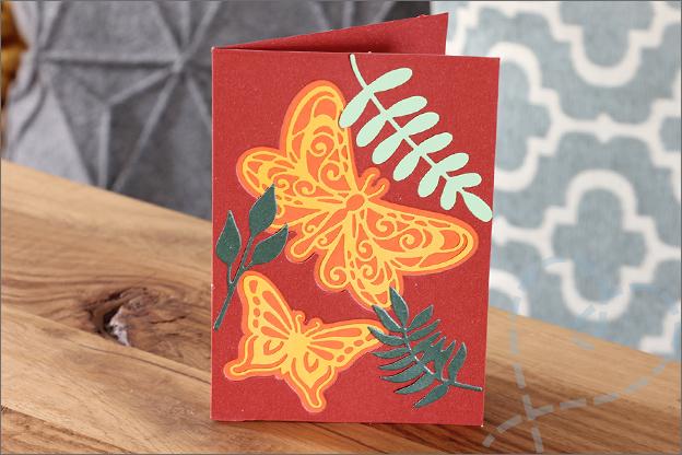 Snijmallen love2craft vlinder bladeren