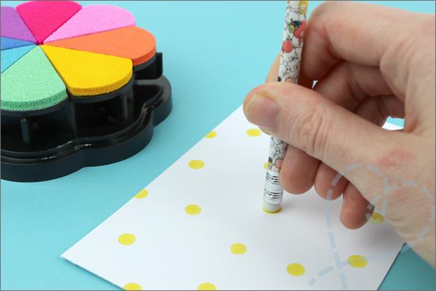 Stempelen met potlood gum inspiratie