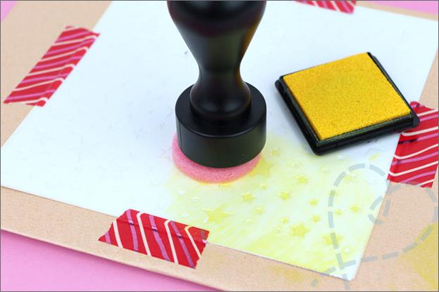 Stempelen met stencil Action tips