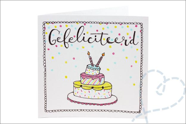 handletteren tekenen taart verjaardag uitleg