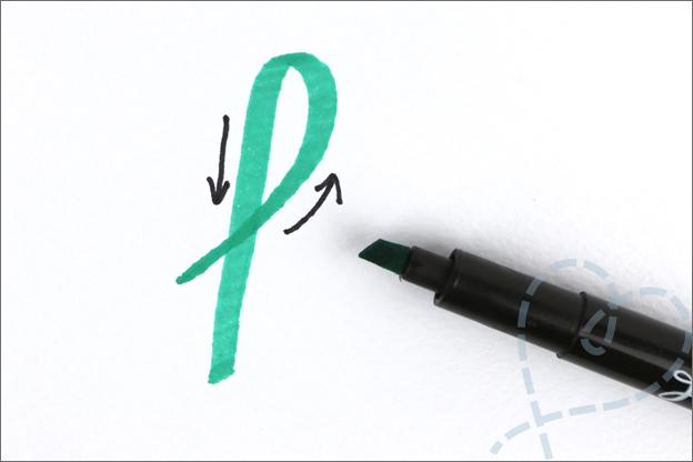 hoe werken kalligrafie stiften