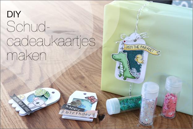 DIY Schudcadeaukaartjes Shaker tags uitleg gratis printable