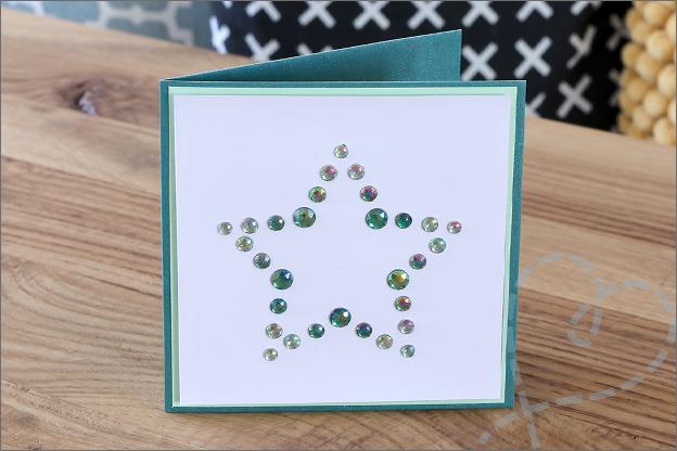kaarten maken stervorm strass steentjes
