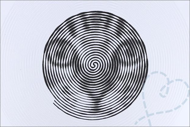 spiraalvormige kleurplaten Action