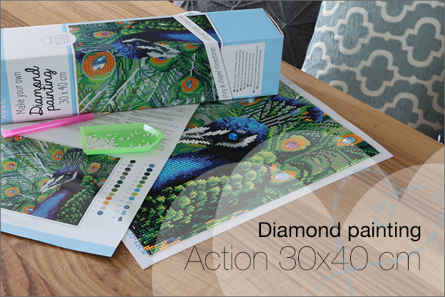 Diamond painting Action 30x40cm nieuw review