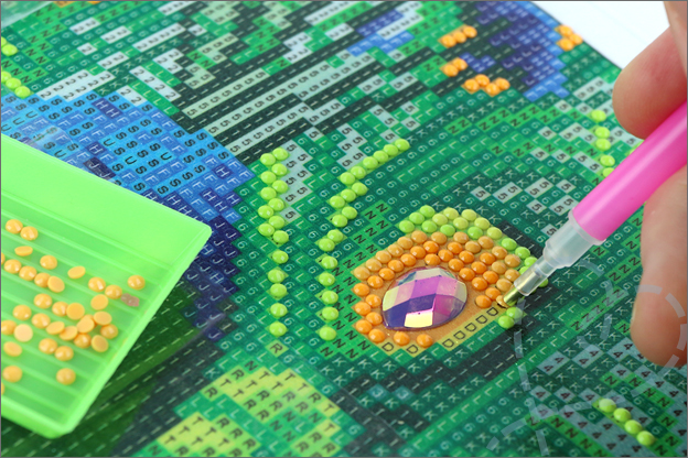 beginnen met Diamond painting action