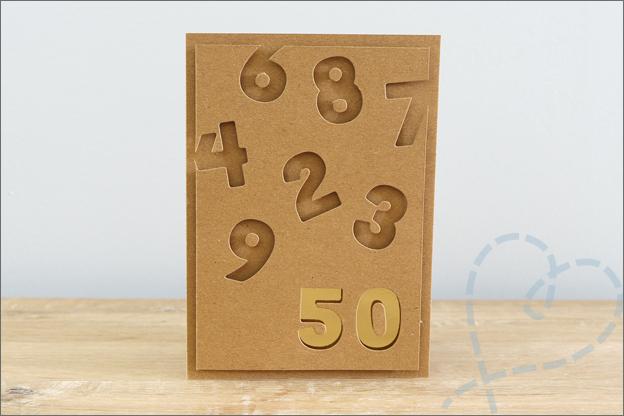 kaarten maken jubileum 50 jaar