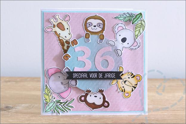 kaarten maken met leeftijd clear stamps