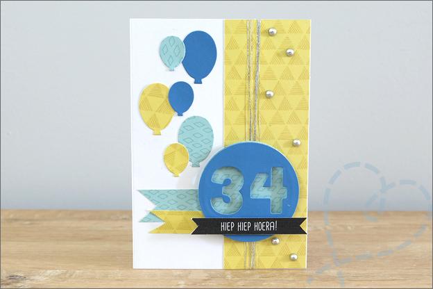 zelf kaarten maken verjaardagskaart leeftijd