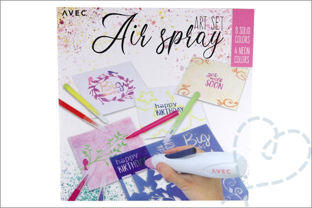 Action Avec air spray set art verpakking