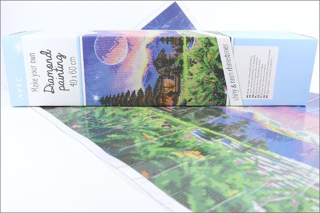 Action Diamond painting 40x60 cm verpakking versies