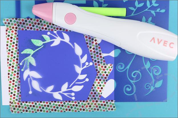 Action air spray set airbrush stencil