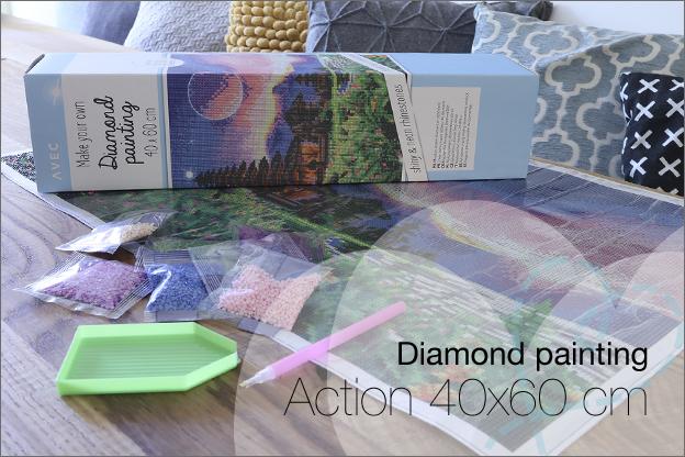Diamond painting Action 40x60cm nieuw review