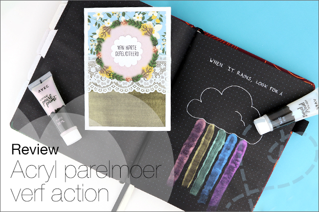 Review Action Acrylic pearl paint parelmoer verf